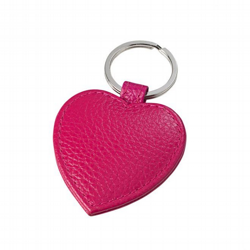 Key Ring Heart Shaped  - Fuchsia